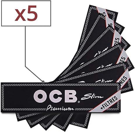 TIPS OCB SLIM Lot de 5 Carnets de 32 Feuilles 32 Tips