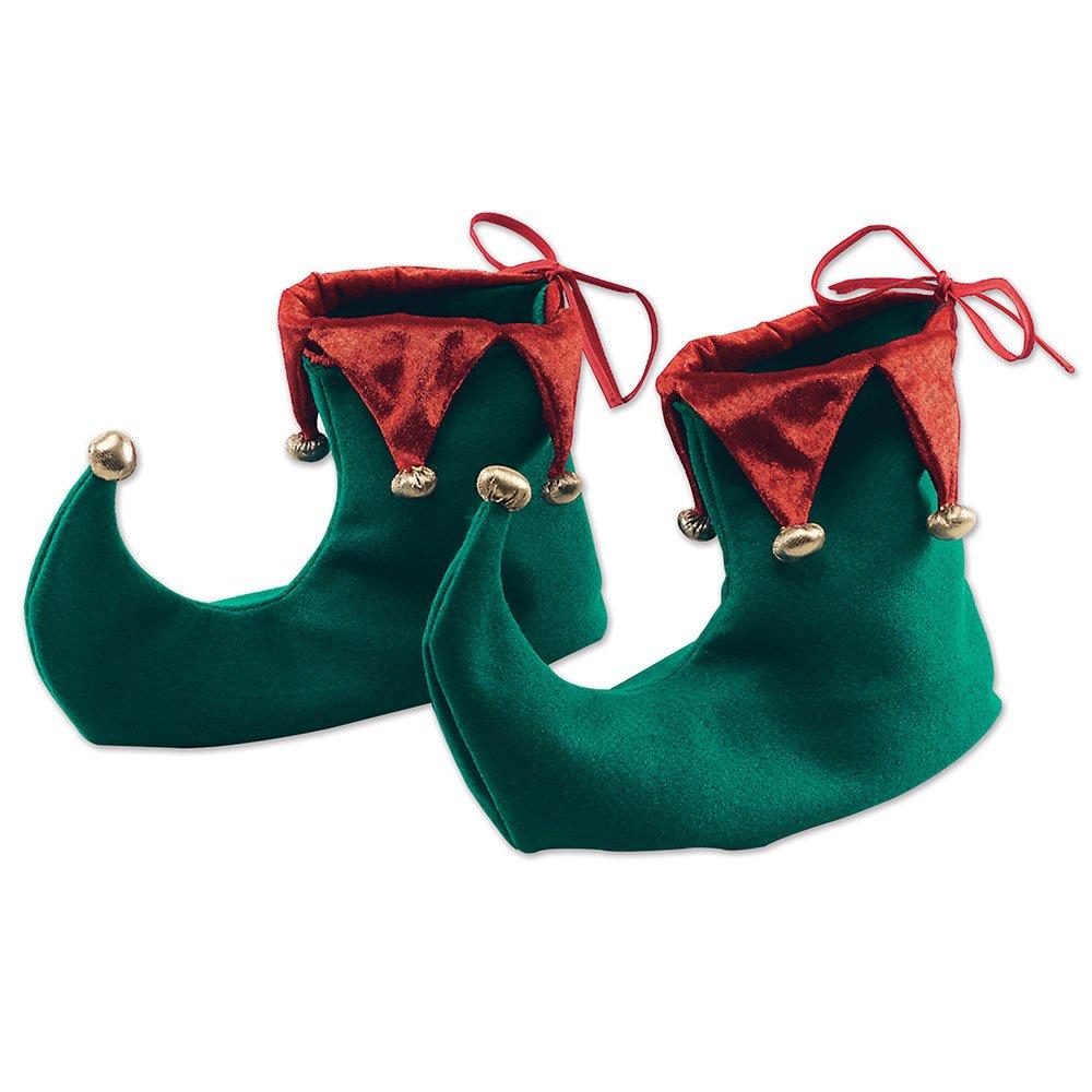 Green Adults Christmas Elf Shoes bristol novelty BA853