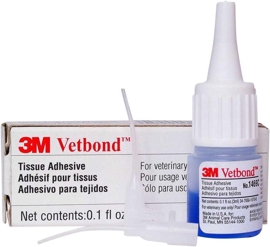 3M Vetbond Tissue Adhesive, 3ml Bottles w/MSDS
