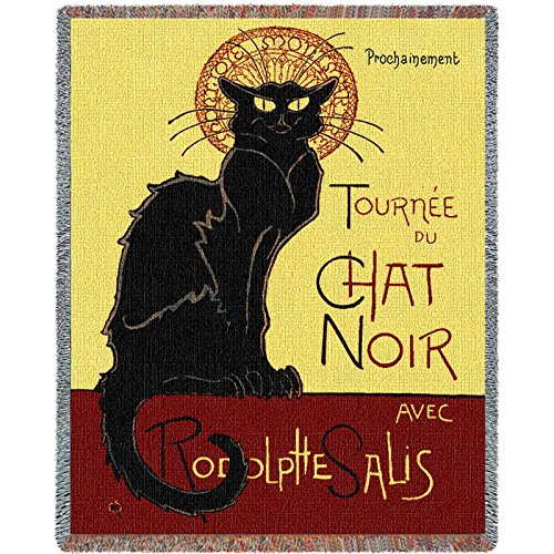 - Pure Country Inc. Tournee Chat Noir Blanket Tapestry Throw