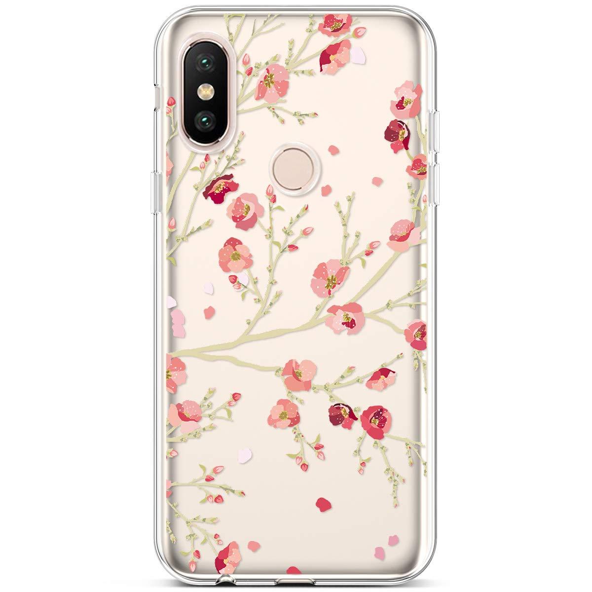 Flamingo Rosa Handyh/ülle Xiaomi Mi A2 Lite Bunte Muster Weiche TPU Silikon Transparent Back Case Cover Tasche Etui Schutzh/ülle 1 x Hpory Stylus Hpory Kompatibel mit Xiaomi Mi A2 Lite H/ülle
