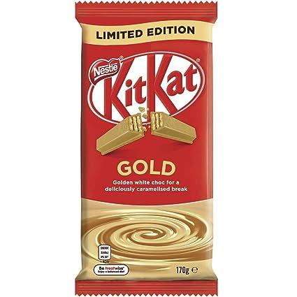 Nestle Kit Kat Chocolate con Leche Bloque de Oro 170gm x 12: Amazon.es: Alimentación y bebidas