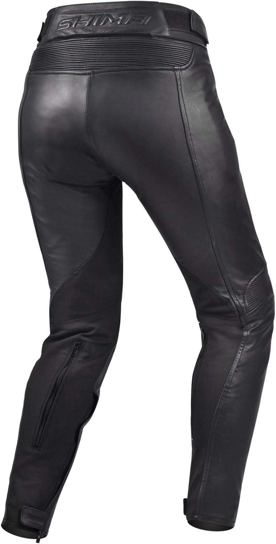 Lady Leather Trousers Vintage Classic Motorcycle SHIMA Monaco Pants Black//XS