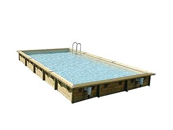 Ubbink Piscine Bois Sunwater 3 00 X 5 50 X 1 40 M Liner Beige