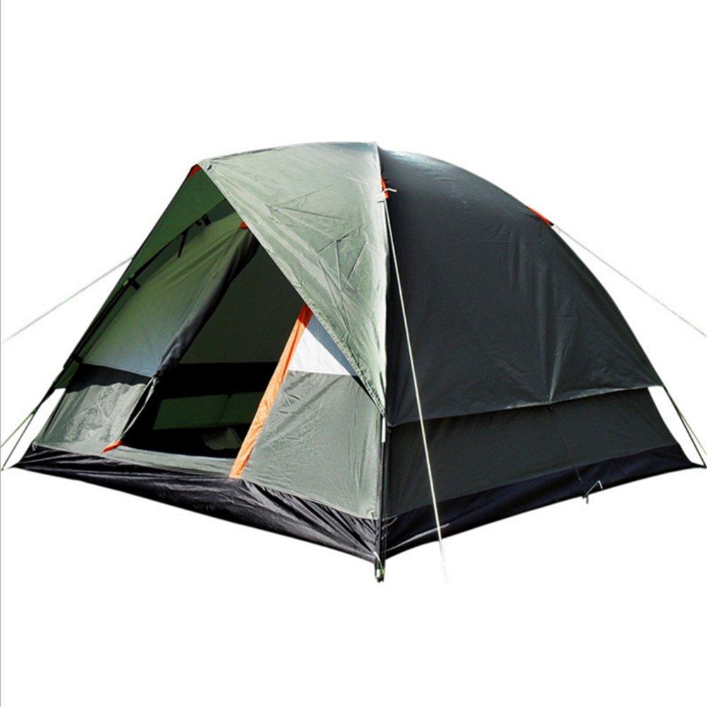 Yzibei Haltbar Outdoor Camping Zelte 3-4 Personen ziehen Seil automatische Zelte frei von Regensturm und Camping Zelt Armee grün