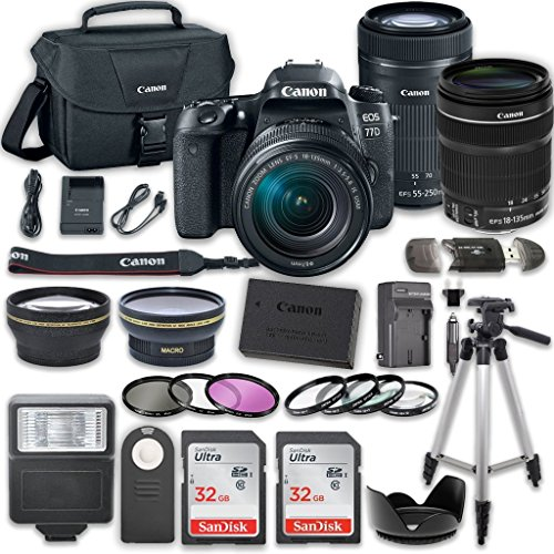 Canon EOS 77D DSLR Camera Canon EF-S 18-135mm f/3.5-5.6 IS U