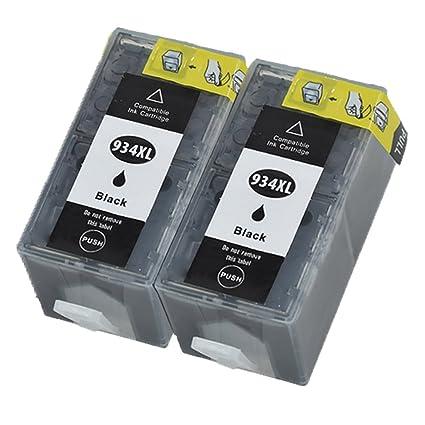 ouguan 2 x negro sustituir para HP 934 935 Cartuchos de ...