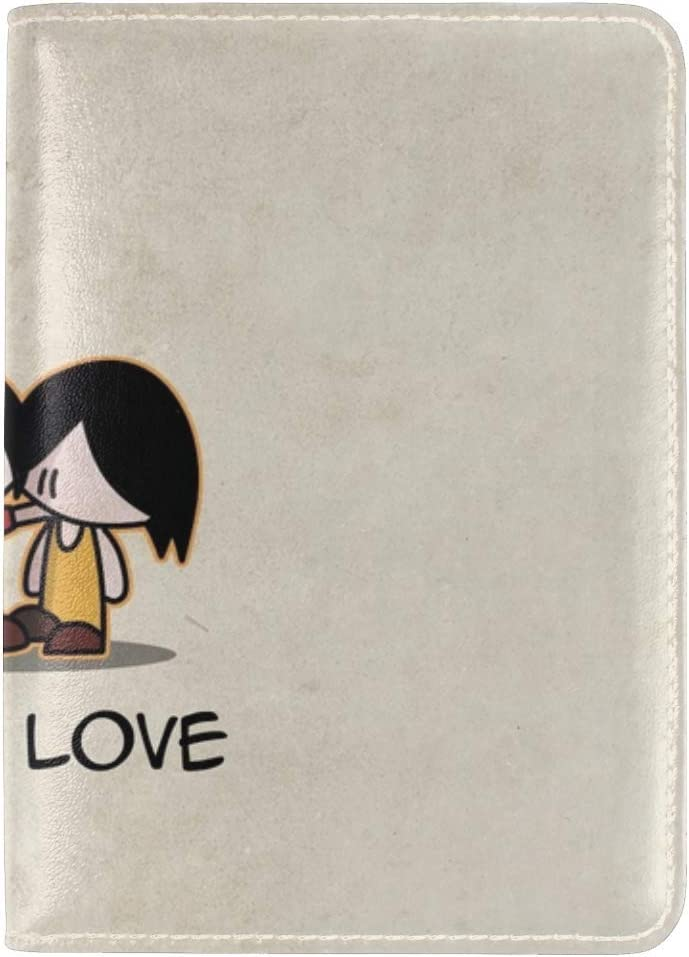 JiaoL Love Couple Lovers First Ball Leather Passport Holder Cover Case Travel One Pocket