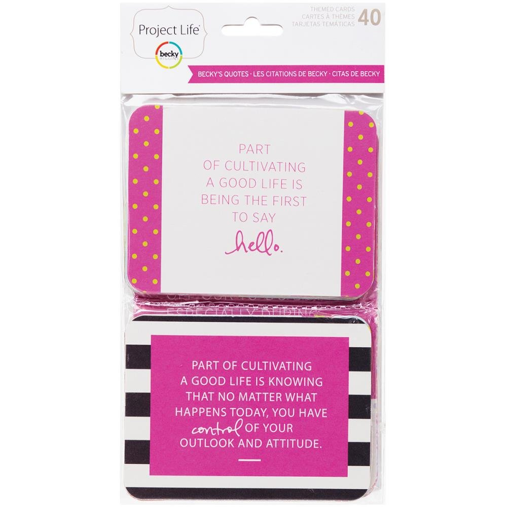 Project Life - Becky's Quotes Themed Scrapbook Cards