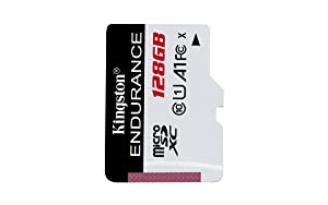 Kingston High Endurance 128GB MicroSD SDXC Flash Memory Card High Performance, 1080P, Full HD, Up to 95MB/S Read, (SDCE/128GB)