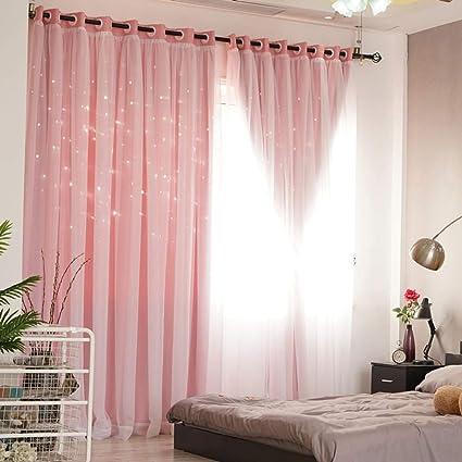 Amazon De Wwbb Prinzessin Schlafzimmer Vorhang Spitze Verdunkelung Vorhang Warmedammung Gardine