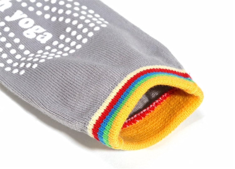 Bestwoohome Five Toe Yoga Non Slip Skid Socks With Grips
