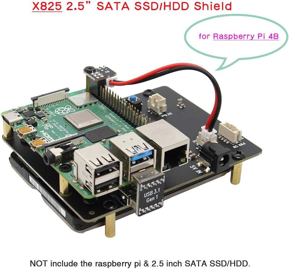 Geekworm Raspberry Pi 4 SATA Raspberry Pi Modelo B X825 2,5 ...