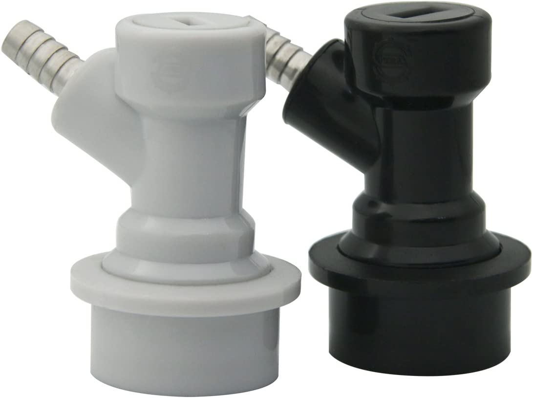 Corny Keg Ball Lock Disconnect - Include 1/4 Ball Lock Gas Disconnect Barb 1/4 Ball Lock Liquid Disconnect Barb, for Home brewing