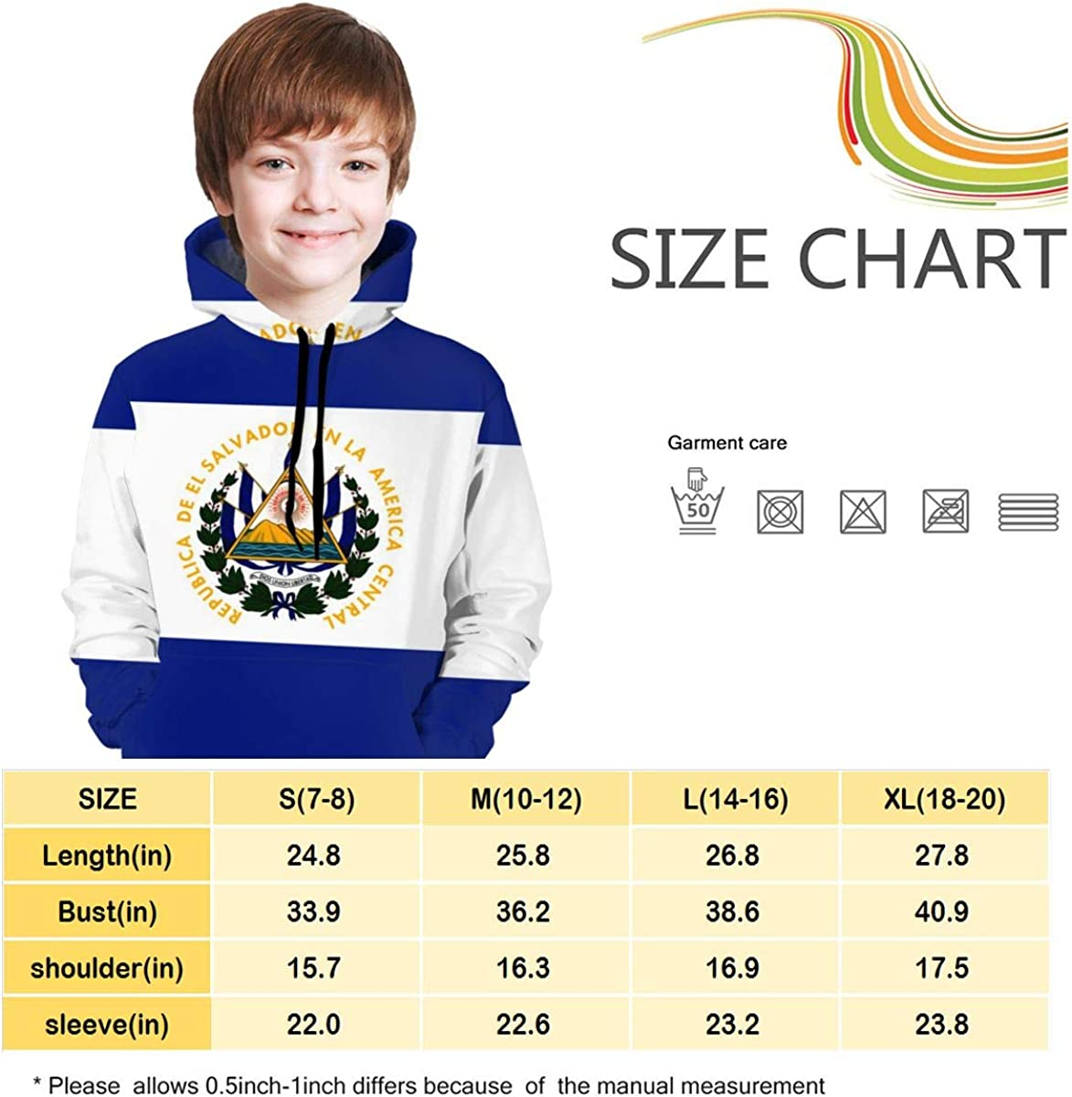BaPaLa Flag of USA Boys Pullover Sweater Cute Crew Neck Knitted Sweater for 2-6T