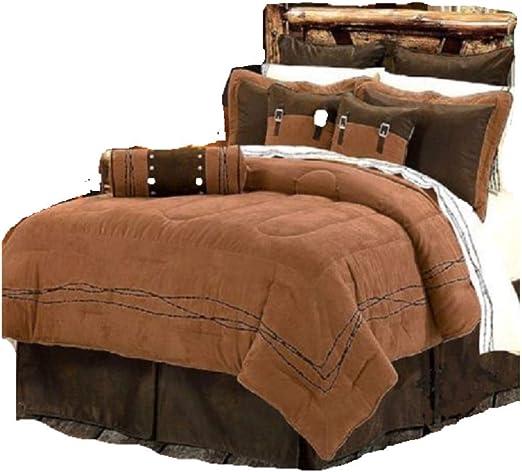 Blue Jean 7 Piece Western Rustic Bedding Comforter Set