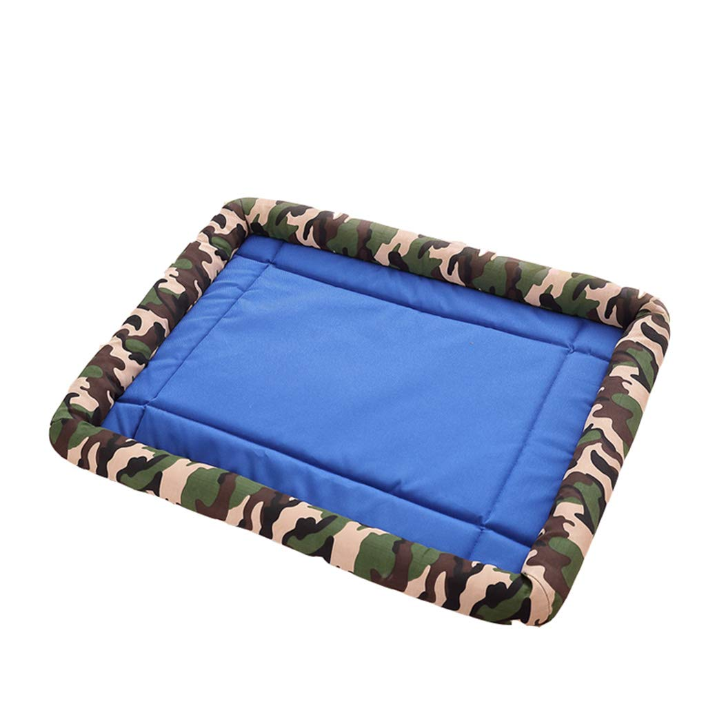 S DQMSB Pet Bed Bite Oxford Dog Pad Four Seasons Non-Stick Hair Small Medium and Large Dogs Can Be Washed pet Bed (Size   S)