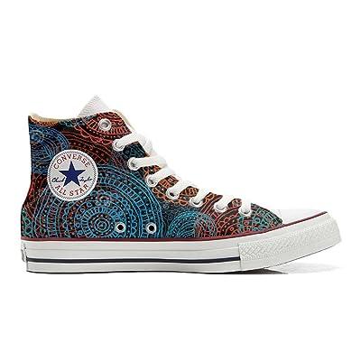 mys Converse All Star Hi Chaussures Coutume Mixte Adulte (Produit artisanalPersonnalisé) Back Groud Paisley