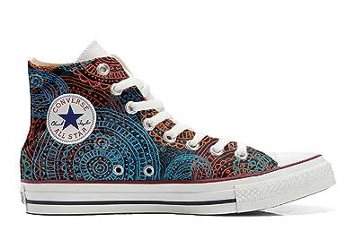 Converse Custom - personalisierte Schuhe (Handwerk Produkt) Brown Paisley