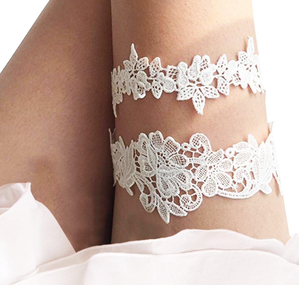 Bridal Garter 2 Pcs/Set, Flower Leaf Style Garter Wedding Garter Bridal Garter Stretch Garter Belt