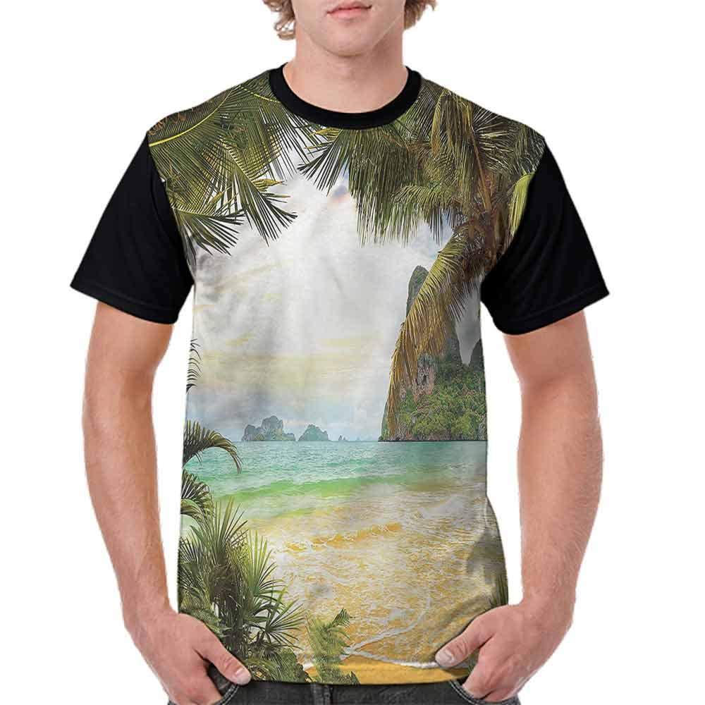 BlountDecor Classic T-Shirt,Outline Starfishes Doodle Fashion Personality Customization