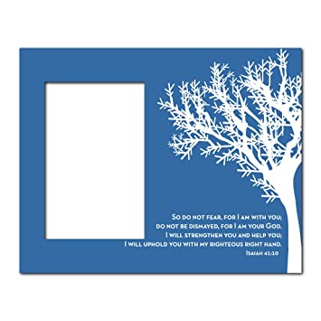 picture frame christian theme isaiah 4110 holds 4x6 picture