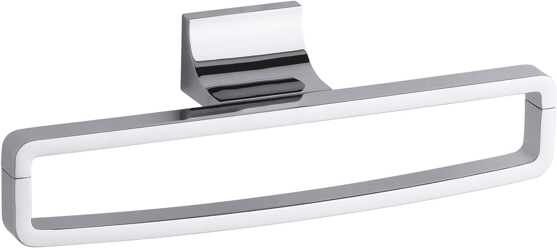 Polished Chrome Kohler K-11582-CP Loure 24-Inch Double Towel Bar
