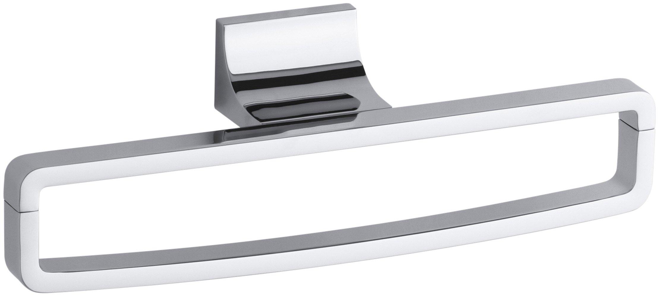Kohler K-11587-CP Loure Towel Ring, Polished Chrome