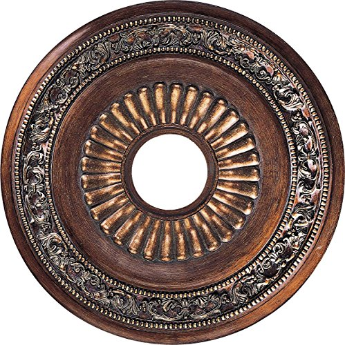 Minka Lavery 1940-126, Belcaro Chandelier Accessory Ceiling Medallion, Walnut