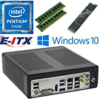 E-ITX ITX350 Asrock H270M-ITX-AC Intel Pentium G4600 (Kaby Lake) Mini-ITX System , 32GB Dual Channel DDR4, 120GB M.2 SSD, WiFi, Bluetooth, Window 10 Pro Installed & Configured by E-ITX