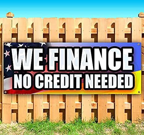 New Advertising Flag, WE Finance NO Credit Needed 13 oz Heavy Duty Vinyl Banner Sign with Metal Grommets Store Many Sizes Available