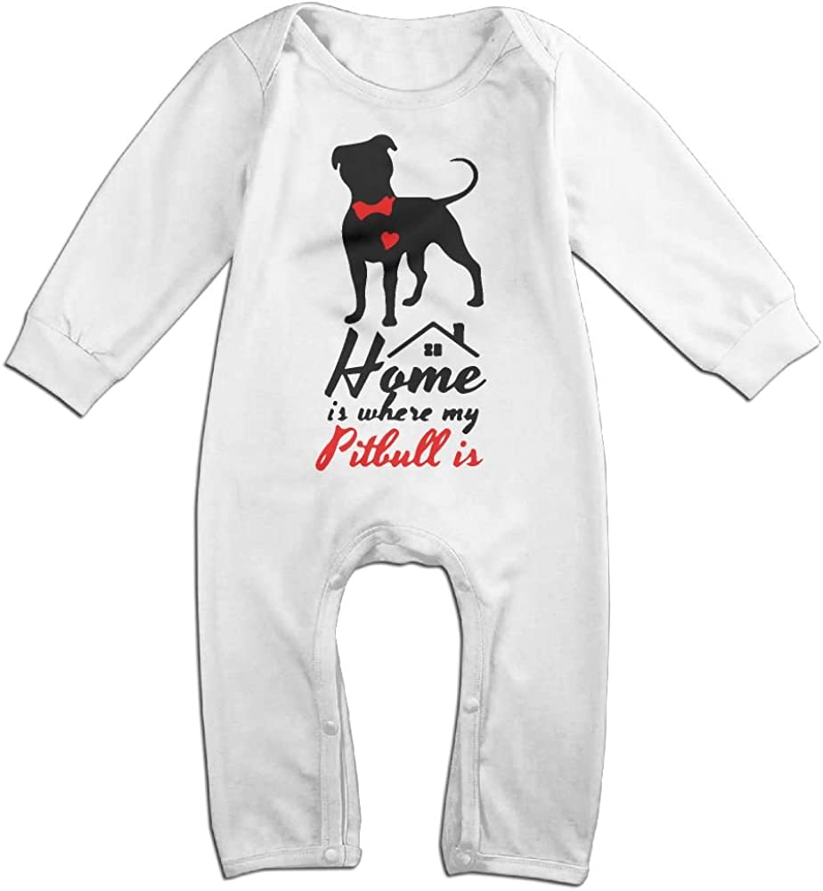 Baby Girls Long Sleeved Coveralls Home is Where My Dog is Baby Clothes