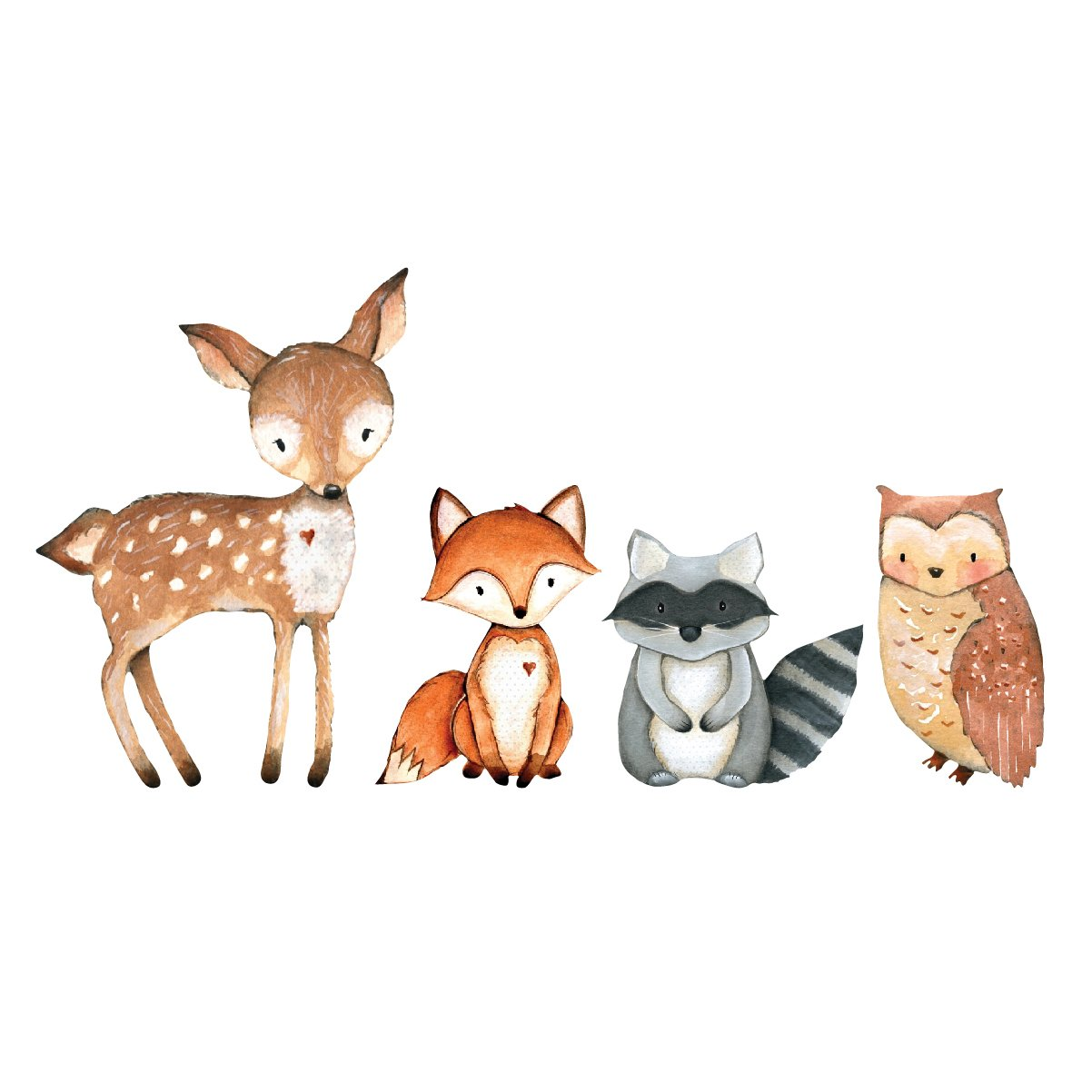 Woodland Creatures Laptop Decal Collection