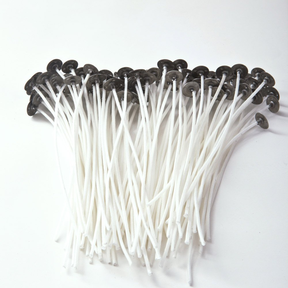 100 pieces Candle Wick 100% NATURAL COTTON CORE Waxed Wicks Low Smoke 6 For Candle Making and Candle DIY Digital Art