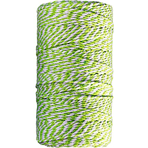 - JAM PAPER Twine - Green & White Baker's Twine - 109 Yards - Sold Individually