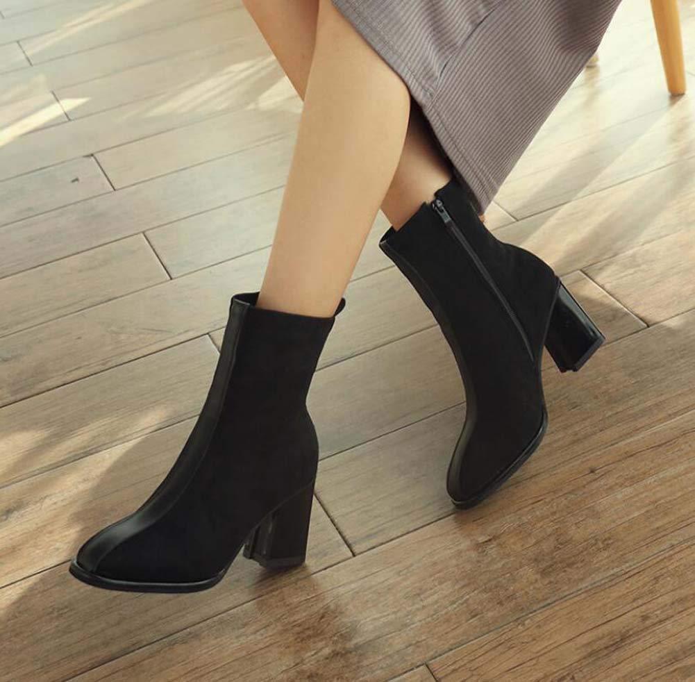6Cm Chunkly Heel Heel Heel Ankle Stiefelie Martin Stiefel Frauen Fashion Round Toe Splice Farbematch Dress Stiefel OL Court schuhe Eu Größe 34-40 d6786c