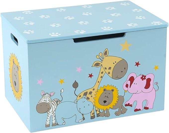 blu Bieco 74088397 petto di giocattoli e panca in una cassa per la memorizzazione di giocattoli con la giungla movente