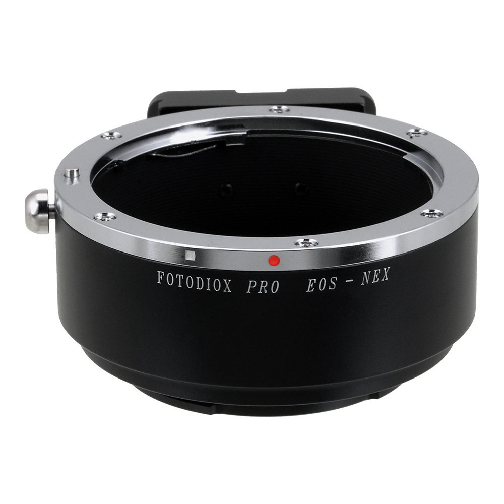 Fotodiox Pro Lens Mount Adapter, Canon EOS EF, EF-S Lens to Sony NEX E-mount Mirrorless Camera e.g. Sony Alpha a7 & NEX-5 by Fotodiox