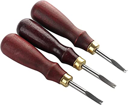 1 piece Leather keen edge skiving beveler craft beveling cutting tool size 1.5mm