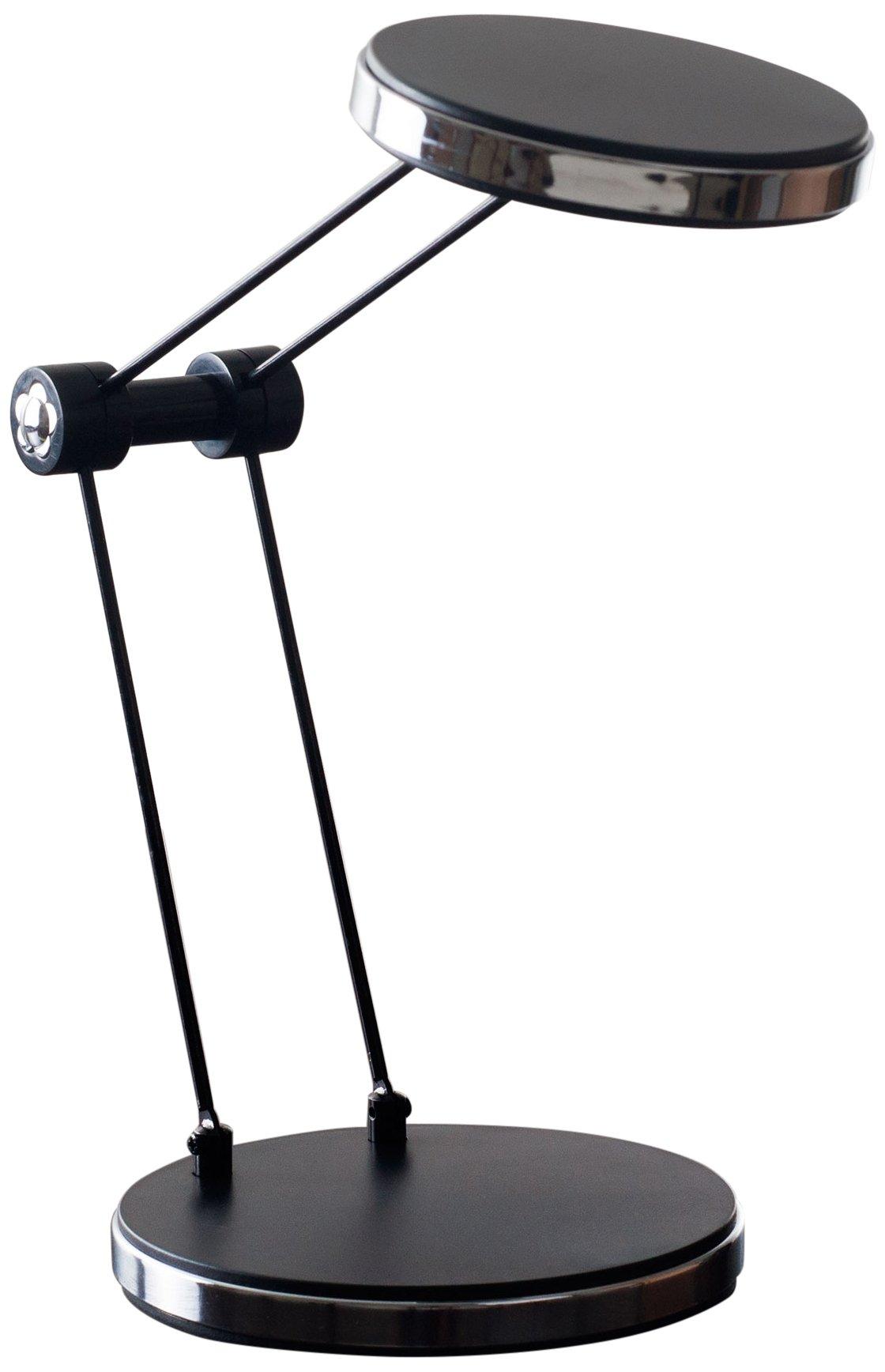 Lavish Home 72-SF11-B Foldable USB LED Desk Lamp, 4.5'' x 4.5'' x 12.5'', Black