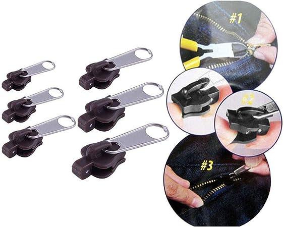 Bihood Universale Instant Fix Zipper Zip Repair Slider Denti Di Sostituzione Rescue Nero Strumenti Fai Da Te Attrezzatura Fissare Una Cerniera Fix Zipper Zipper Repair