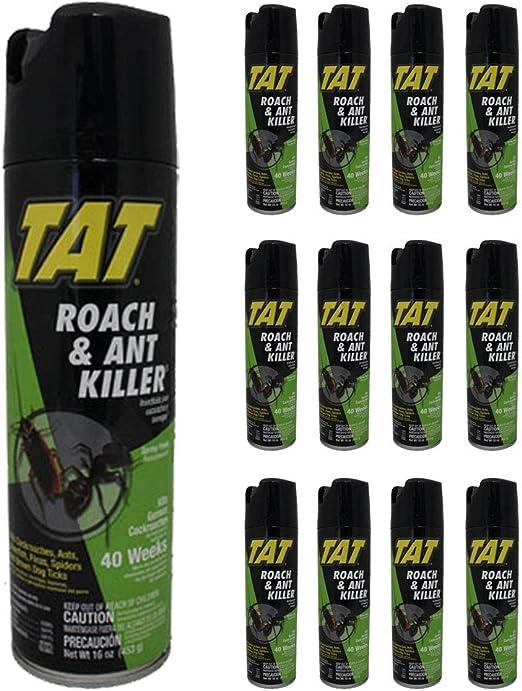 TAT - Spray para Hormigas de cucarachas (24 Unidades): Amazon.es: Jardín