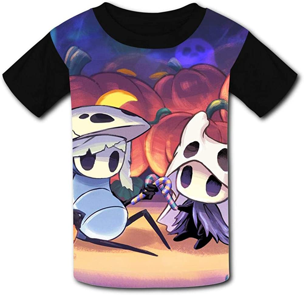 Lcso47 Kids T-Shirt Knight Greenpath Ho-llow 3D Printed Crew Neck Youth T Shirts Tee for Boys Girls Children