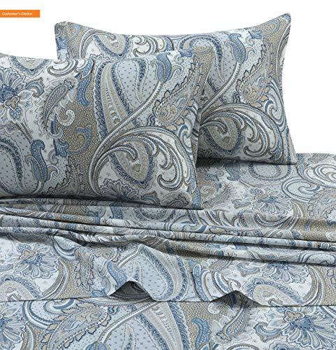 Mikash New Soft PAPARK4PSSFU Paisley Park 300 TC Cotton Deep Pocket Sheet Set, Full, Multi | Style 84599370