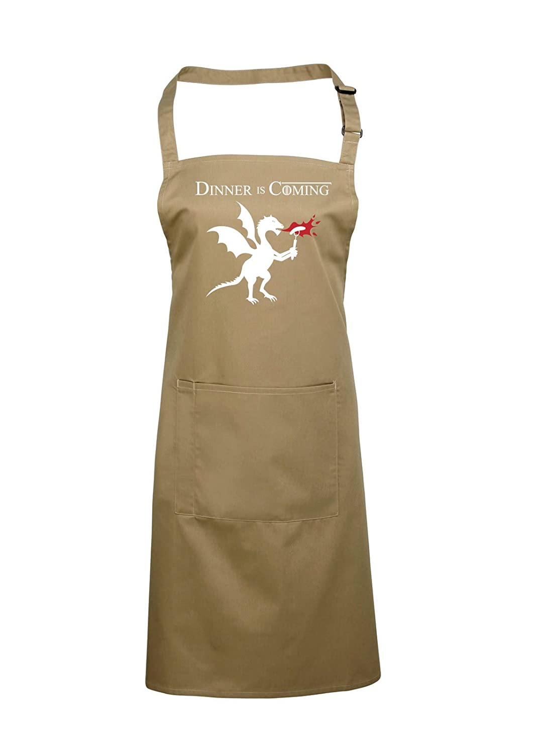 Game of Thrones Apron, Fan Gift Idea, Dinner is Coming, Dragon (Black) Harlequin Designs