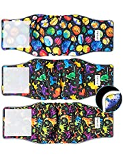 Pantula Belly Bands for Male Dogs (Pack of 3) - Washable Male Dog Diapers Belly Band for Male Dogs, Reusable Male Dog Belly Wraps for Doggy Puppy