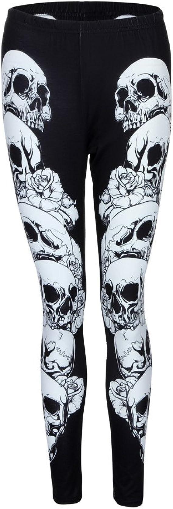 Skull Bone Womens Power Flex Yoga Shorts Dance Athletic Sport Hot Shorts