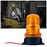 Xprite 30 LED Amber/Yellow 15W Emergency Warning Flashing Safety Strobe Beacon Light for Forklift Truck Tractor Golf Carts UTV Car Bus