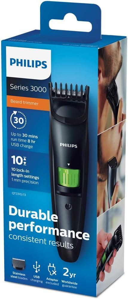 Philips BEARDTRIMMER Series 3000 QT3310/13 depiladora para la ...