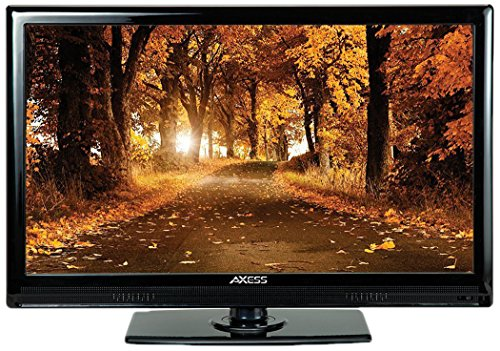 AXESS TV1701-15 15.6-Inch LED HDTV, Features 12V Car Cord Technology, VGA/HDMI/USB Inputs, Built-In Digital and Analog TV Tuner, Full Function Remote
